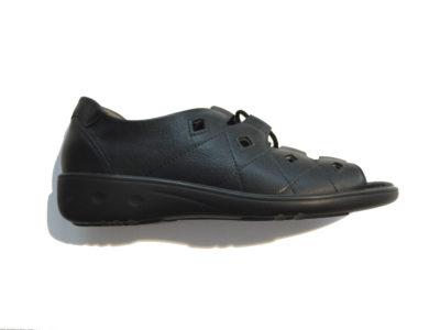 82f6a7796b9e7 Sandały WALDLAUFER Kara czarne sznurowane skóra tęg.K